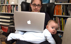 Work-Life balance during the Pandemic, mother with baby